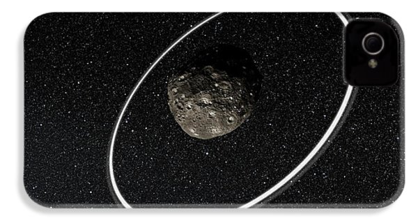 Chariklo Minor Planet And Rings IPhone 4 / 4s Case by European Southern Observatory