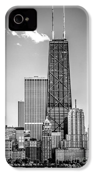 Chicago Hancock Building Black And White Picture IPhone 4 / 4s Case by Paul Velgos