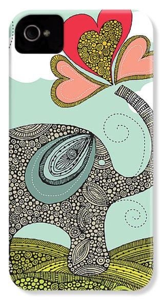 Cute Elephant IPhone 4 / 4s Case by Valentina Ramos