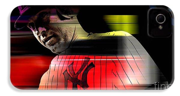 Derek Jeter IPhone 4 / 4s Case by Marvin Blaine