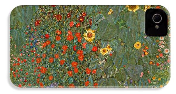 Farm Garden With Sunflowers IPhone 4 / 4s Case by Gustav Klimt