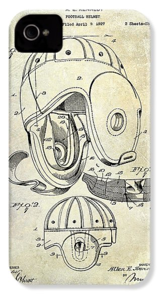 Football Helmet Patent IPhone 4 / 4s Case by Jon Neidert