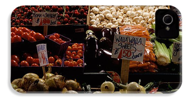 Fruits And Vegetables At A Market IPhone 4 / 4s Case by Panoramic Images