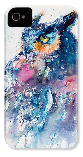 Great Horned Owl IPhone 4 / 4s Case by Kovacs Anna Brigitta