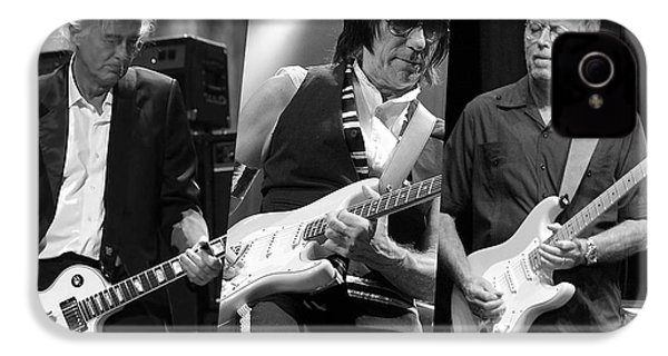 Guitar Legends Jimmy Page Jeff Beck And Eric Clapton IPhone 4 / 4s Case by Marvin Blaine