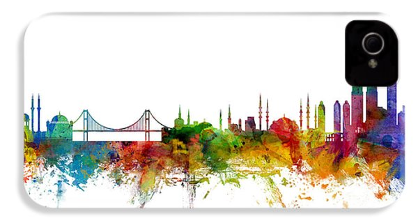 Istanbul Turkey Skyline IPhone 4 / 4s Case by Michael Tompsett