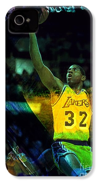 Magic Johnson IPhone 4 / 4s Case by Marvin Blaine