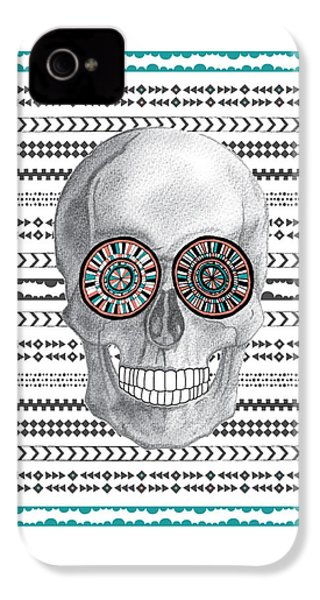 Navajo Skull IPhone 4 / 4s Case by Susan Claire