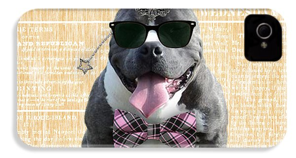 Pitbull Bowtie Collection IPhone 4 / 4s Case by Marvin Blaine