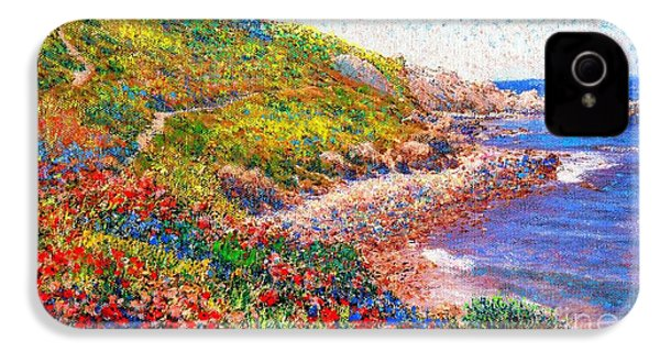 Enchanted By Poppies IPhone 4 / 4s Case by Jane Small