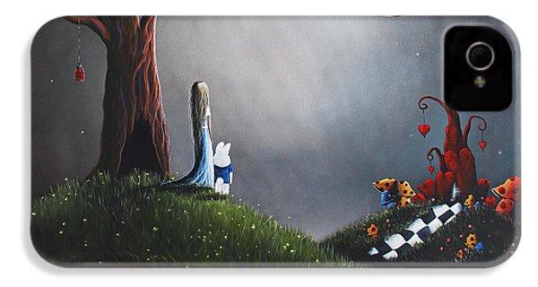 Alice In Wonderland Original Artwork IPhone 4 / 4s Case by Shawna Erback