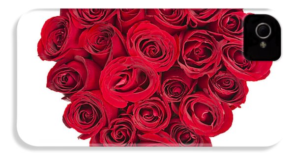 Rose Heart IPhone 4 / 4s Case by Elena Elisseeva
