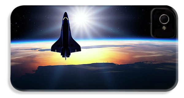 Space Shuttle In Orbit IPhone 4 / 4s Case by Detlev Van Ravenswaay