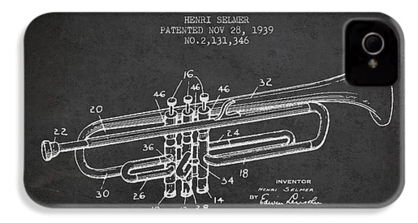 Vinatge Trumpet Patent From 1939 IPhone 4 / 4s Case by Aged Pixel