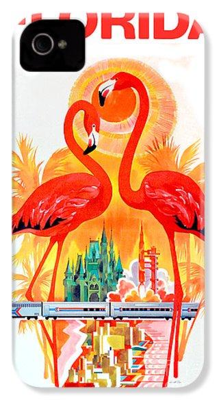 Vintage Florida Travel Poster IPhone 4 / 4s Case by Jon Neidert