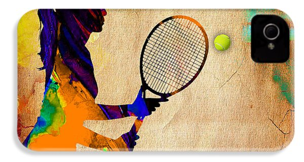 Womens Tennis IPhone 4 / 4s Case by Marvin Blaine