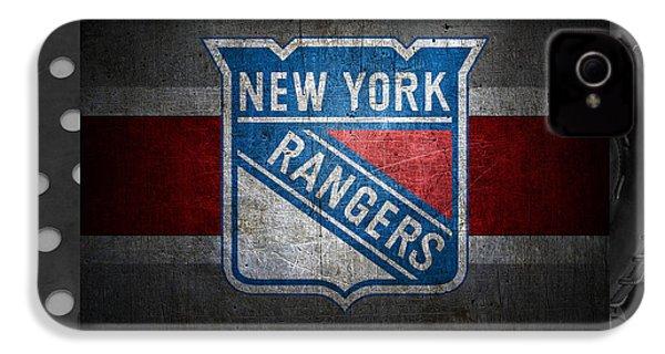 New York Rangers IPhone 4 / 4s Case by Joe Hamilton