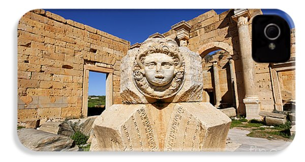 Sculpted Medusa Head At The Forum Of Severus At Leptis Magna In Libya IPhone 4 / 4s Case by Robert Preston