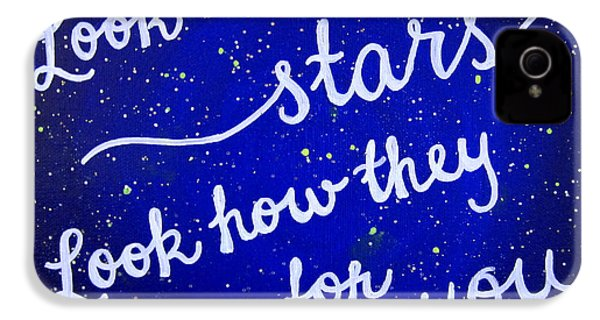 11x14 Look At The Stars IPhone 4 / 4s Case by Michelle Eshleman