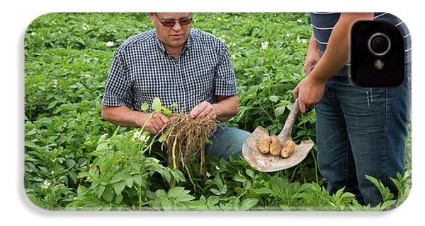 Potato Farming IPhone 4 / 4s Case by Jim West