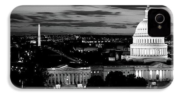 High Angle View Of A City Lit IPhone 4 / 4s Case by Panoramic Images