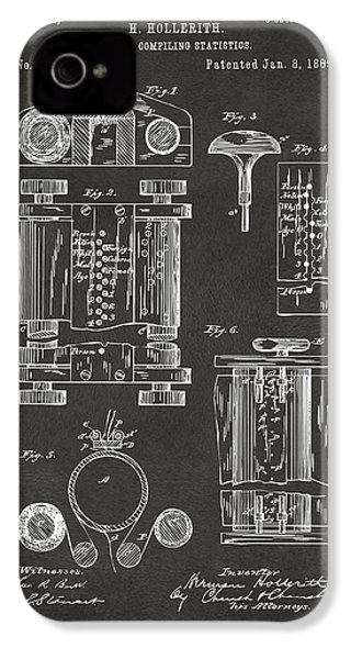 1889 First Computer Patent Gray IPhone 4 / 4s Case by Nikki Marie Smith