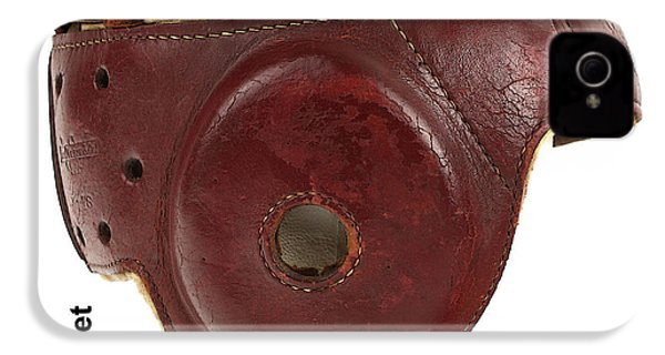 1940s Leather Football Helmet IPhone 4 / 4s Case by Marvin Blaine