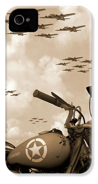 1942 Indian 841 - B-17 Flying Fortress' IPhone 4 / 4s Case by Mike McGlothlen