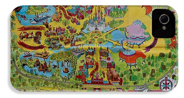 1971 Original Map Of The Magic Kingdom IPhone 4 / 4s Case by Rob Hans