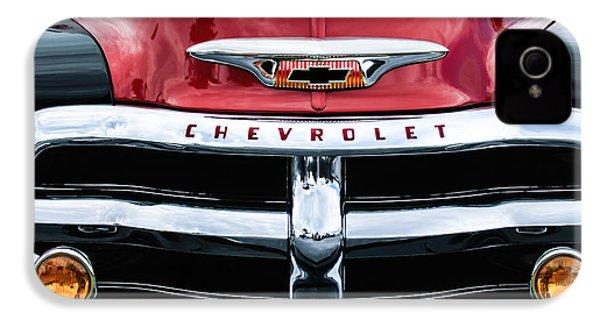 1955 Chevrolet 3100 Pickup Truck Grille Emblem IPhone 4 / 4s Case by Jill Reger