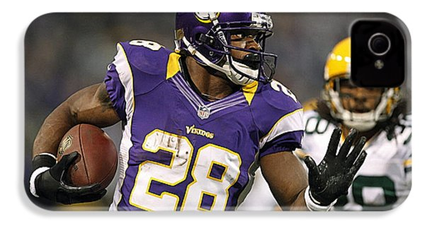 Adrian Peterson IPhone 4 / 4s Case by Marvin Blaine