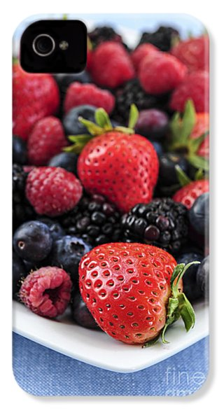 Assorted Fresh Berries IPhone 4 / 4s Case by Elena Elisseeva