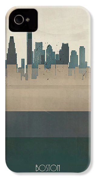 Boston City Massachusetts IPhone 4 / 4s Case by Bri B