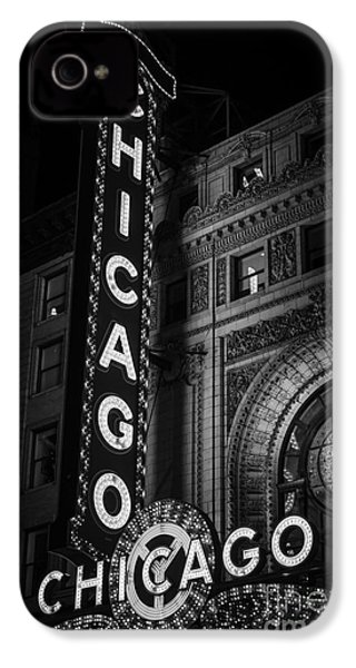 Chicago Theatre Sign In Black And White IPhone 4 / 4s Case by Paul Velgos