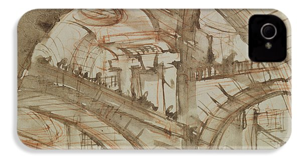 Drawing Of An Imaginary Prison IPhone 4 / 4s Case by Giovanni Battista Piranesi