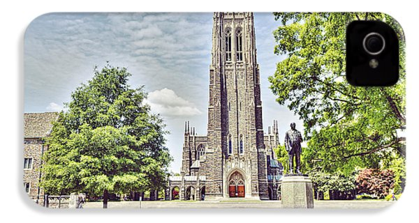 Duke Chapel In Spring IPhone 4 / 4s Case by Emily Kay
