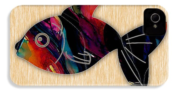 Fish Painting IPhone 4 / 4s Case by Marvin Blaine