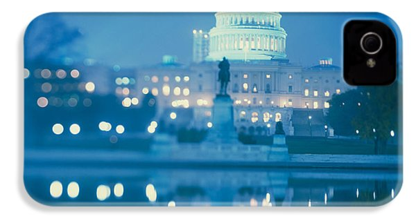 Government Building Lit Up At Night IPhone 4 / 4s Case by Panoramic Images