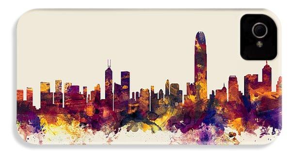 Hong Kong Skyline IPhone 4 / 4s Case by Michael Tompsett