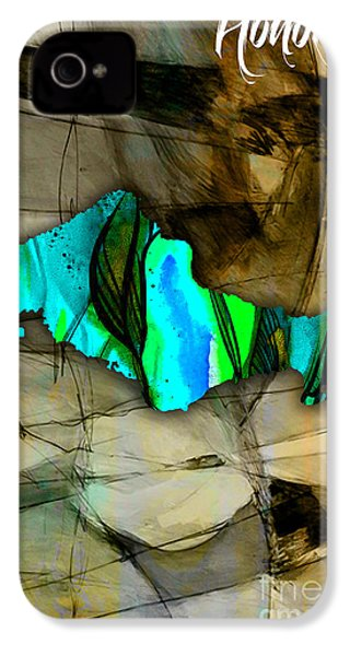 Houston Map Watercolor IPhone 4 / 4s Case by Marvin Blaine