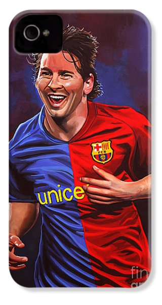 Lionel Messi  IPhone 4 / 4s Case by Paul Meijering