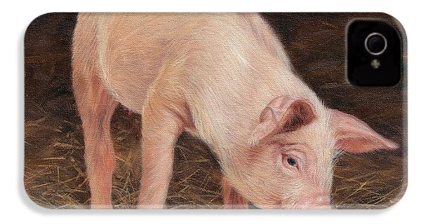 Pig IPhone 4 / 4s Case by David Stribbling