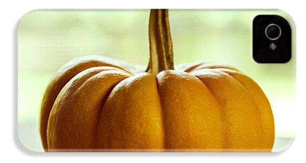 Small Orange Pumpkin IPhone 4 / 4s Case by Iris Richardson