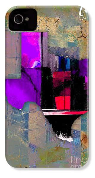 Texas State Map Watercolor IPhone 4 / 4s Case by Marvin Blaine