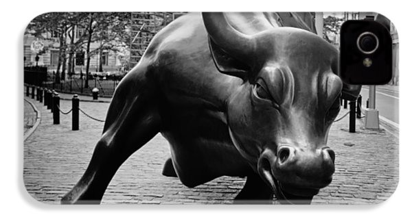 The Wall Street Bull IPhone 4 / 4s Case by Pixabay