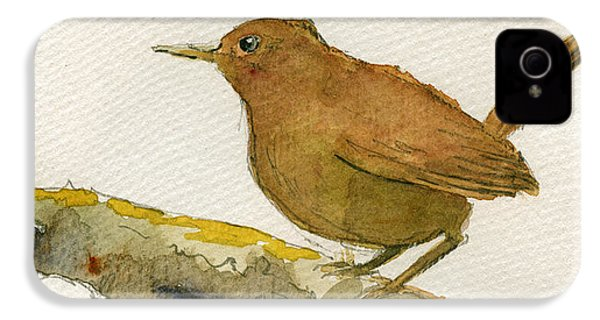 Wren Bird IPhone 4 / 4s Case by Juan  Bosco