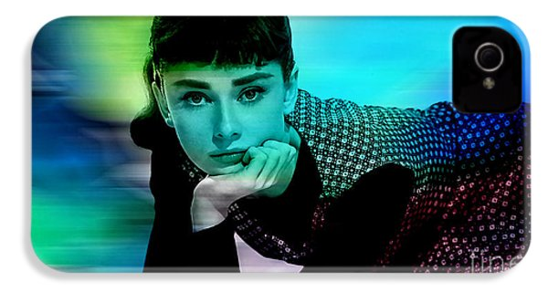 Audrey Hepburn  IPhone 4 / 4s Case by Marvin Blaine