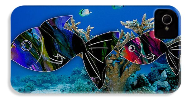 Coral Reef Painting IPhone 4 / 4s Case by Marvin Blaine