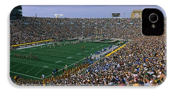 High Angle View Of A Football Stadium IPhone 4 / 4s Case by Panoramic Images
