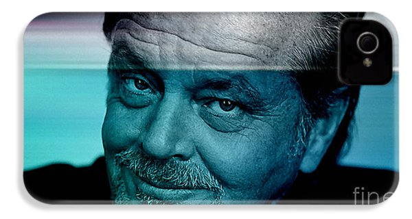 Jack Nicholson IPhone 4 / 4s Case by Marvin Blaine